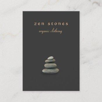 zen stones holistic healer and natural medicine business card